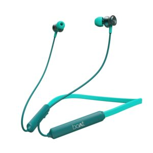 boAt Rockerz 185 Wireless Neckband with BT v5.0, Immersive Audio, Dual Pairing, IPX4 Water Resistance, Magnetic Earbuds, Up to 15H Playback